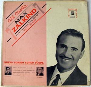 MAX ZALKIND No.7 Rca Victor 2487 JEWISH LP