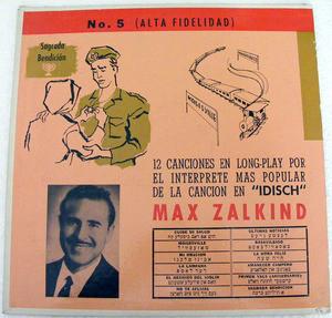 MAX ZALKIND No.5 Rca Victor 2428 JEWISH LP