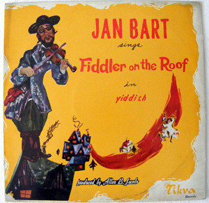 JAN BART Arg LONDICSC RL-132 FIDDLER ON THE ROOF LP