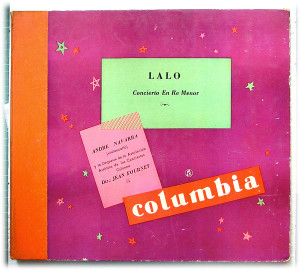 ANDRE NAVARRA cello COLUMBIA LFX8084 3x78rpm Set LALO Concerto En Re Mineur EX