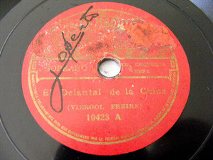 LOLA MEMBRIVES Nacional 10423 TANGO 78rpm EL DELANTAL
