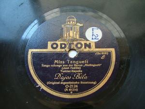 DAJOS BELA Odeon O-2124 TANGO 78rpm GRISETA