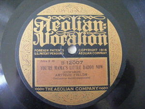ARTHUR FIELDS / ARTHUR BURNS Aeolian Vocalion 12007 78 BELGIAN ROSE / YOU'RE MAM