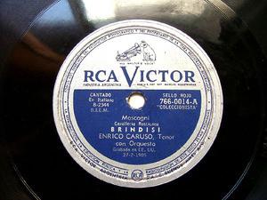 ENRICO CARUSO Arg VICTOR 766-0014 OPERA 78rpm SICILIANA
