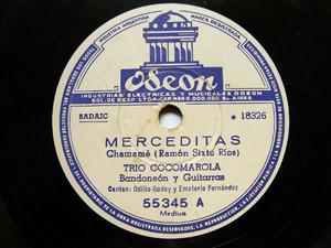 TRIO COCOMAROLA Odeon 55345 BANDONEON & GUITAR78rpm