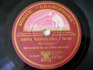 D. ELLINGTON Gramophone 8796 JAZZ 78rpm SEPIA PANORAMA