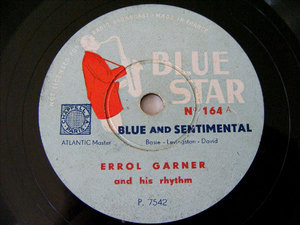 ERROLL GARNER Blue Star 164 JAZZ 78rpm PAVANE MOOD