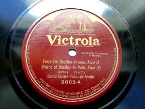CARUSO & AMATO Verdi VICTROLA 8005 78rpm