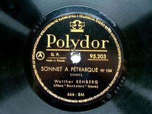 BRAILOWSKI / REHBERG Polydor 95203 PIANO 78rpm LISZT