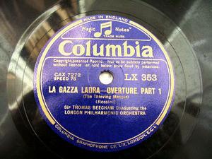 BEECHAM T. cond Rossini COLUMBIA LX353 12'' 78rpm
