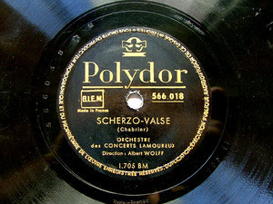ALBERT WOLFF Polydor 5660018 CON 78rpm PRELUDE