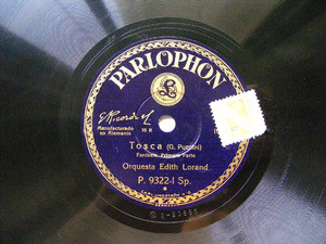 EDITH LORAND Parlophon 9322 78rpm PUCCINI / TOSCA
