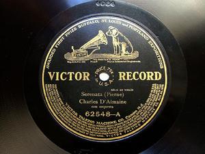 D'ALMAINE / RATTAY Victor 62548 VIOLIN 78rpm SERENATA