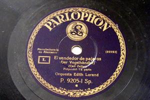 EDITH LORAND Parlophon 9205 78rpm VENDEDOR DE PAJAROS