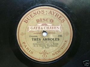 GUARDIA REPUBLICANA PARIS Gath&Chaves 206/7 RARE 78rpm
