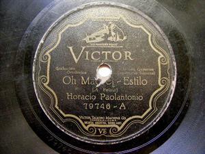 PAOLANTONIO & MEDERO scr VICTOR 79746 78rpm OH MADRE