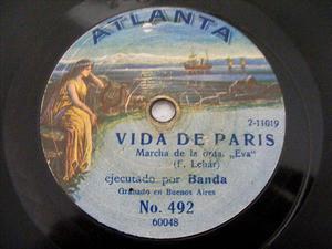 """BANDA ATLANTA 60048/9 RARE 12"""" 78rpm LEHAR"""