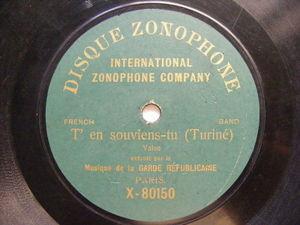 GARDE REPUBLICAINE Zonophone X-80150 FRANCE 78rpm VALSES