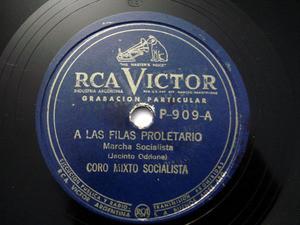 SOCIALIST CHORUS Priv VICTOR 909 78rpm HIJO DEL PUEBLO