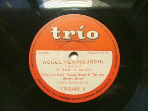 CARLOS ACUÑA & DARRE Trio 5-001 TANGO 78rpm AMEMONOS