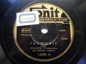 KRAMER Fonit 12300 TANGO 78rpm JALOUSIE/SOGNO D'AMORE
