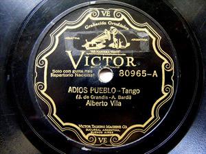 ALBERTO VILA Scr VICTOR 80965 TANGO 78rpm ADIOS PUEBLO