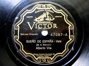 ALBERTO VILA Scr VICTOR 47287 SPANISH 78rpm MUNEQUITA
