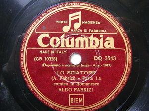 ALDO FABRIZI Columbia DQ 3543 ITALIAN COMIC 78 LO SIATORE