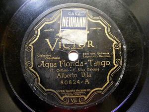 ALBERTO VILA Scr VICTOR 80824 TANGO 78rpm AGUA FLORIDA