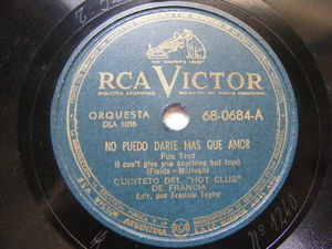 """5to HOT CLUB DE FRANCIA Victor 68-0884 78 I CAN""""T GIVE YOU ANYT/ LIMEHOUSE BLUES"""