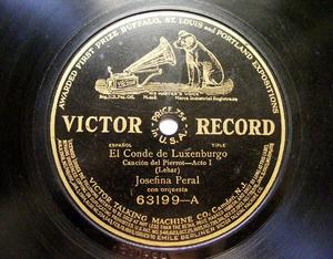 PERAL & PALMER Victor 63199 78rpm CONDE DE LUXEMBURGO