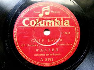 WALTER Columbia 5191 SPANISH 78rpm CALLE ERVIRA