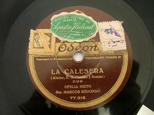 NIETO & REDONDO Odeon 77318 SPANISH 78rpm LA CALESERA