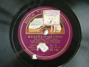 VELA & SAGI-BARBA Gramofono AC 145 SPANISH 78rpm MARUXA