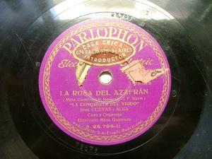 PEREIRA, CUEVAS & ALBA Parlophon 25799 SPANISH 78rpm