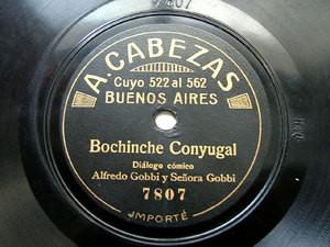 Sr & Sra GOBBI duo A.CABEZAS 7807/15 SPANISH 78rpm RARE