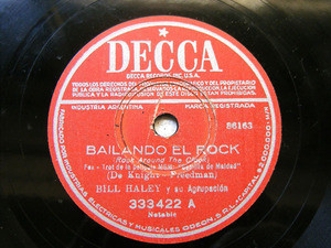 BILL HALEY Decca 333422 ROCK 78rpm BAILANDO EL ROCK
