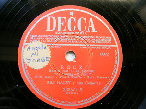 BILL HALEY Arg DECCA 333571 ROCK 78rpm LOS SANTOS BAILA