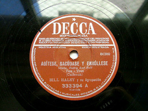 BILL HALEY Arg DECCA 333394 ROCK 78rpm SHAKE RATTLE