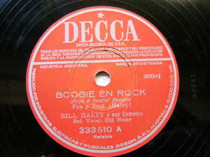 BILL HALEY Arg DECCA 333510 ROCK 78rpm BOOGIE EN ROCK