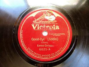 ENRICO CARUSO Victrola 6021 OPERA 78rpm Good Bye
