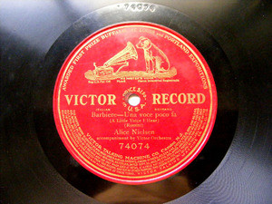 ALICE NIELSEN Victor 74074 OPERA 1Side 78rpm ROSSINI