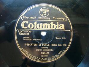 DINO BORGIOLI Columbia 182-M OPERA 78rpm SONNAMBULA