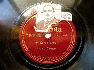 ENRICO CARUSO Victrola 518 OPERA 78rpm VIENI SUL MAR