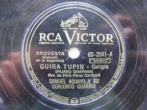 SAMUEL AGUAYO Victor 60-2041 PARAGUAY FOLK 78 GUIRA TUPIN / MISIONERA