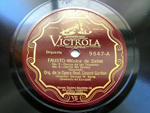 BYNG GEORGE cond GOUNOD Arg Scr VICTROLA 9647 78rpm