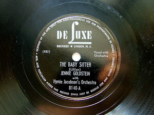 J. GOLDSTEIN & JACOBSON Orch DE LUXE 8140 JEWISH 78rpm