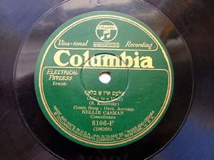 NELLIE CASMAN Columbia 8106-F JEWISH COMIC 78rpm