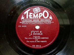 P. GENTILE & J. VENUTI Tempo TR-520 JEWISH 78rpm