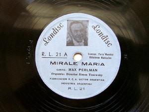 MAX PERLMAN Arg LONDISC R.L.21 JEWISH 78rpm